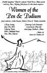 """Women of the Pen & Podium"" poster"