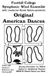 """Original American Dances"" poster"