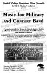 """Music for Military and Concert Band"" Concert Poster"
