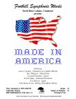 """Made in America"" Concert Poster"